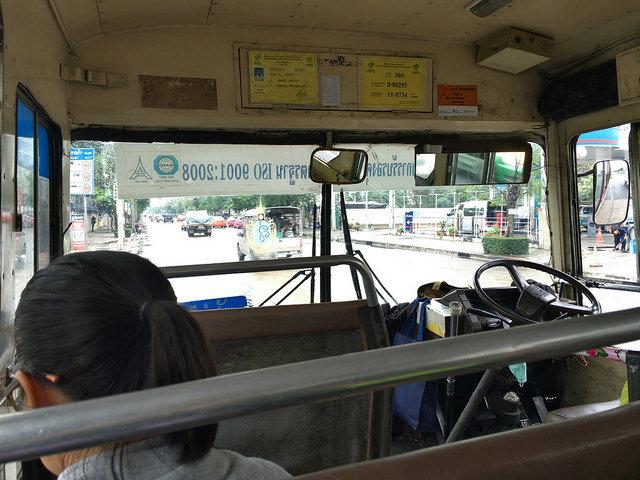 カンボジア大使館まで乗ったバス