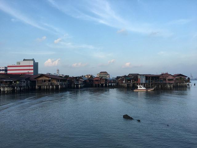 桟橋村が見える
