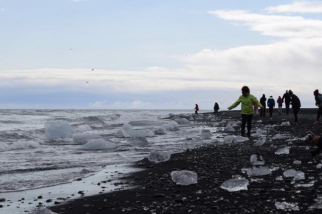 流氷が流れ着くビーチ