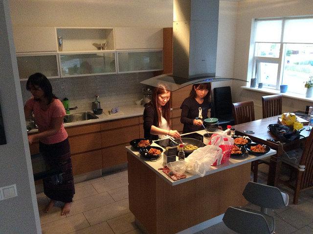 素敵なキッチンがある家で最後の晩餐