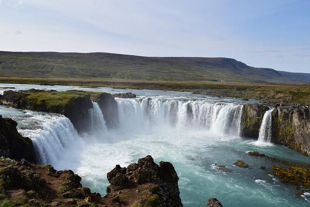 碧い滝、ゴッダフォス。美しかった。