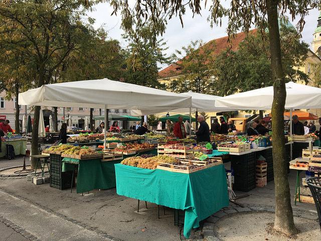 リュブリャナの中央市場