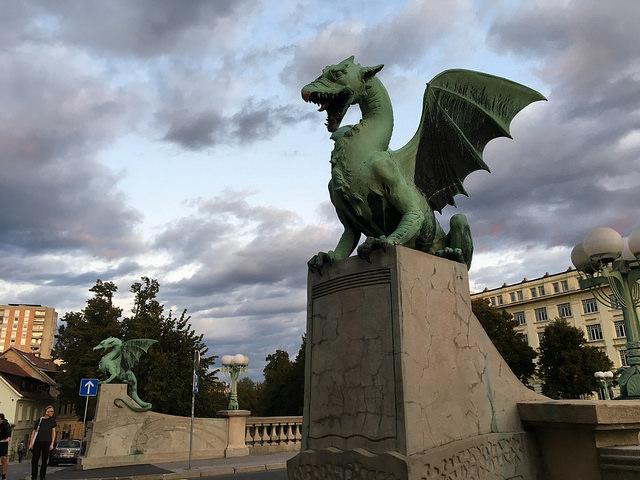 リュブリャナの象徴、ドラゴン