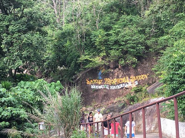 ナムアンの滝2を目指すと現れるガーデン